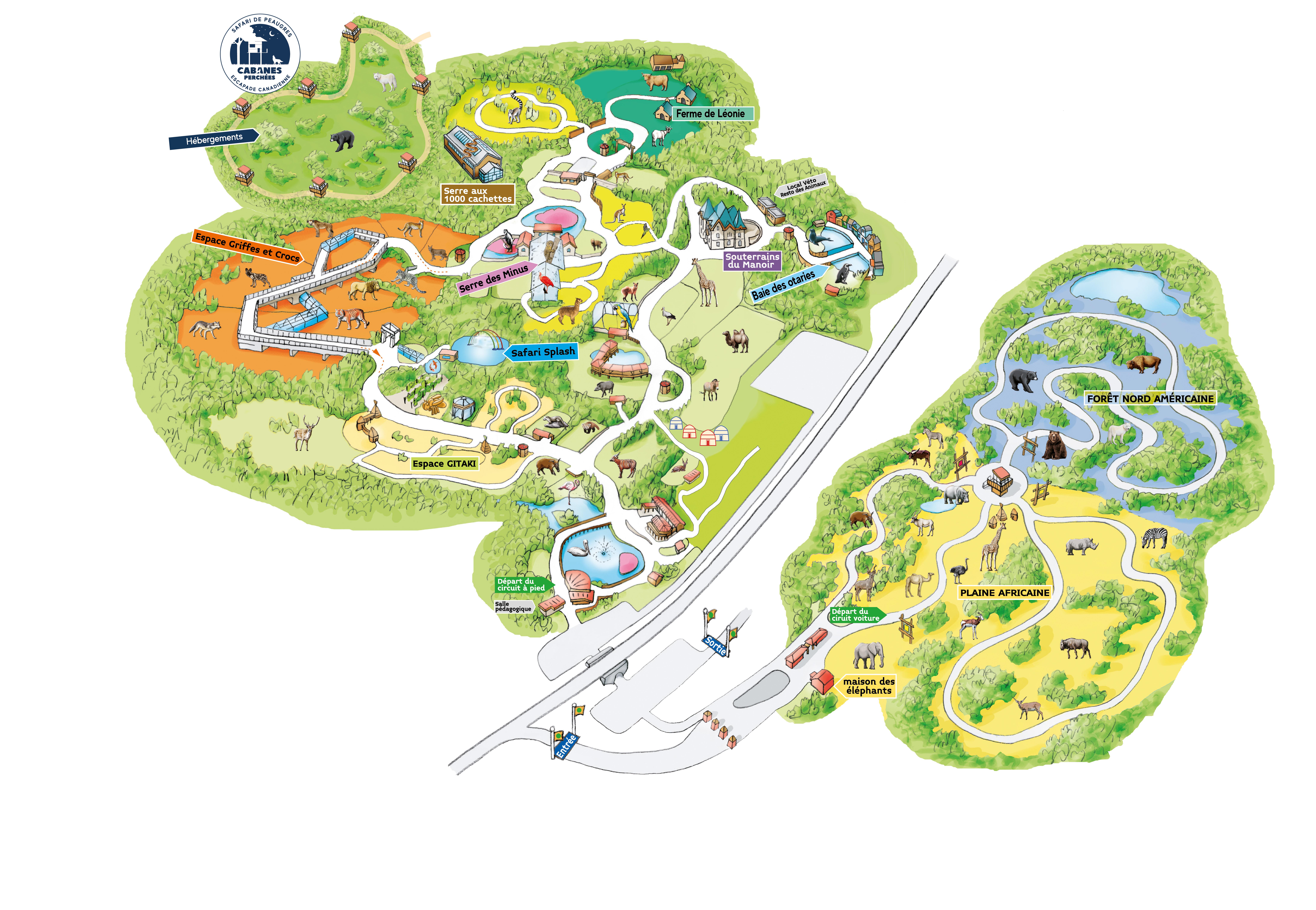 Plan Du Safari De Peaugres
